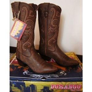 Durango Jealousy Crush Brown Leather Boots NWT 7.5